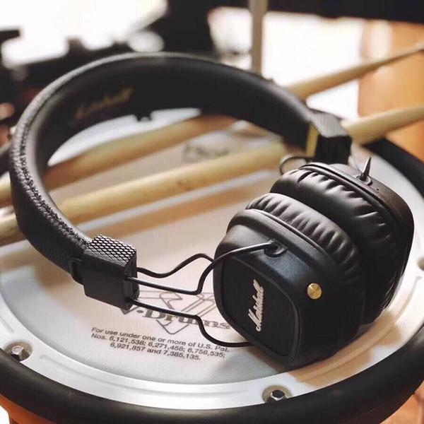 2019 Hot Marshall Major-Kopfhörer mit Mikrofon Bis zu 30 Stunden Spielzeit für iPhone XR iPad PC-Handys Fernseher über Ohr Kopfhörer mit Kabel