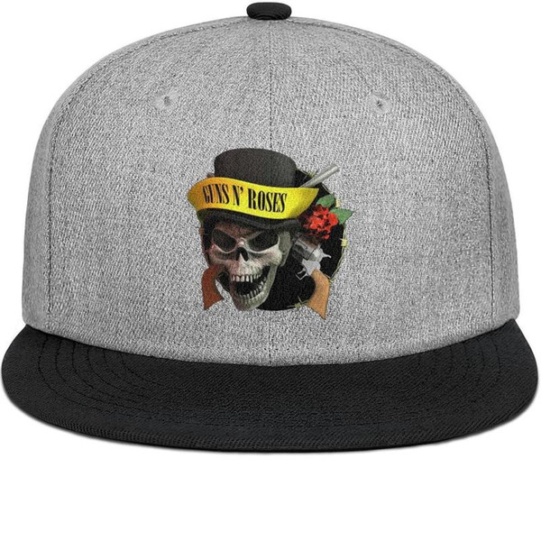 Guns-N'-Roses-Logo mens and women flat brim hats black snapback cool kids hats plain make your own custom your own stylish retro personaliz