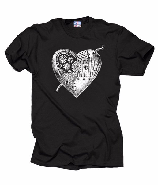 Mechanical Heart T-Shirt Creative Stylish Tee Shirt Robot Heart fear cosplay liverpoott tshirt