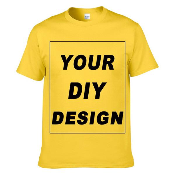 Cool personalizada camiseta de los hombres Imprimir su propio diseño DIY de alta calidad de algodón T-Shirt para los hombres más tamaño sin pegamento de impresión XS-3XL # 02