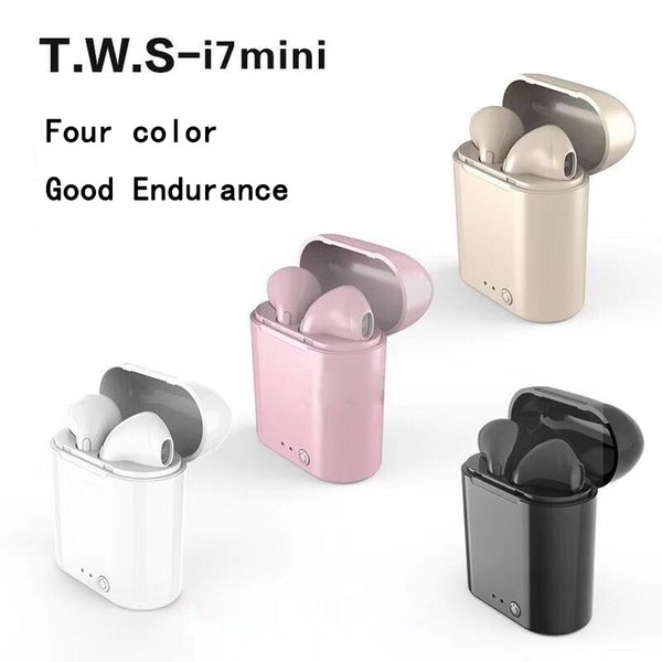 i7s mini tws with charger box pick i7s tws i8x i9s good quality with low price 350mAh+40mAh