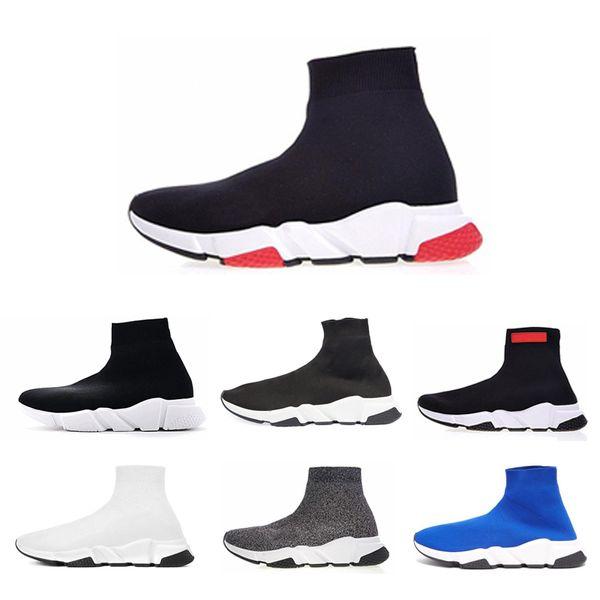 Balenciaga 2019 Дизайнерские носки Обувь Speed Trainer мужские беговые кроссовки Sock Race chaussures Fashion Flat женщины Спортивные кроссовки обувь размер 36-45