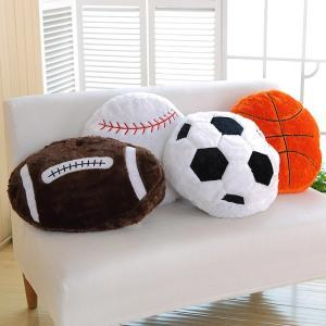 Soft Soccer Football Round Cushion Pillow Child Plush Stuffed Round Toys Creative Birthday Fans Gifts LLA189
