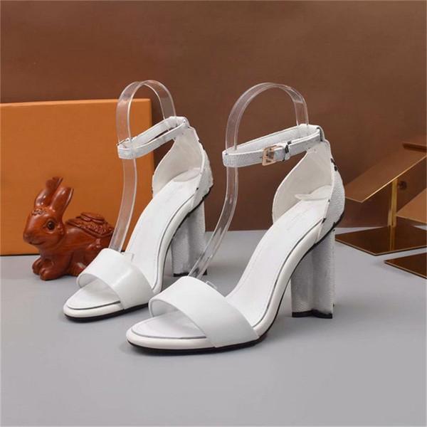 Designer Sliders Silhouette Sandale 1A4X1Q 2019 Marke Mode Luxus Designer Frauen Sandalen High Heel mit Box E15