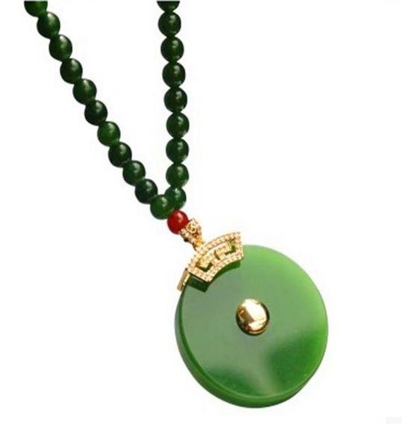 Natural Hetian Jade-green Necklace Jade in Xinjiang