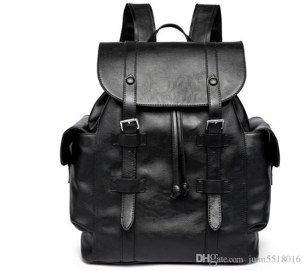 2 цвета горячие новые мужчины женщины походные сумки Школьные сумки кожа PU модельеры рюкзак женщин путешествия мешок рюкзака ноутбук сумка