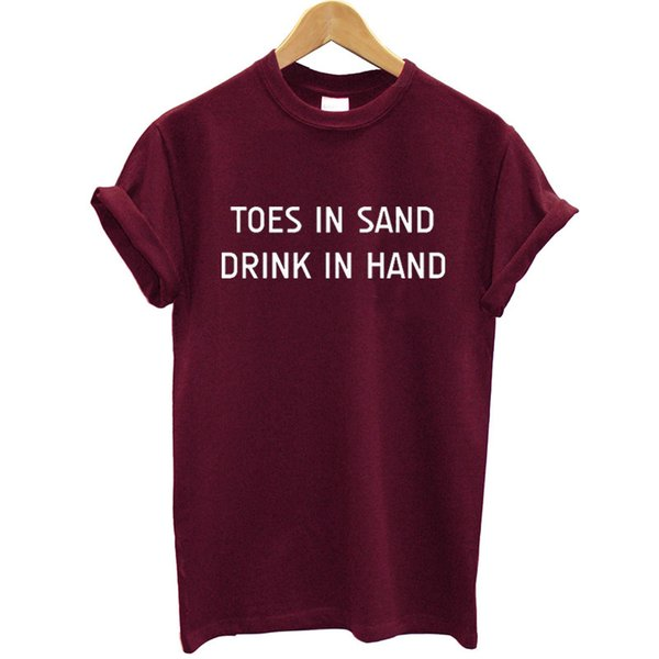 Fashion Brand Women Maroon T-shirt Cotton Short Sleeves O-neck Funny Summer Clothes 2019 Streetwear Casual Tshirt Women Tees