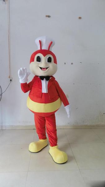 2019 Factory Outlets mascotte abeille chaud dessin animé costume rouge costume Livraison gratuite