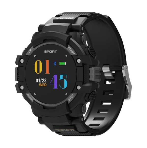 F7 0.95 polegada relógio inteligente tela colorida GPS freqüência cardíaca passo sono monitoramento temperatura medida medição IP67 esportes pulseira