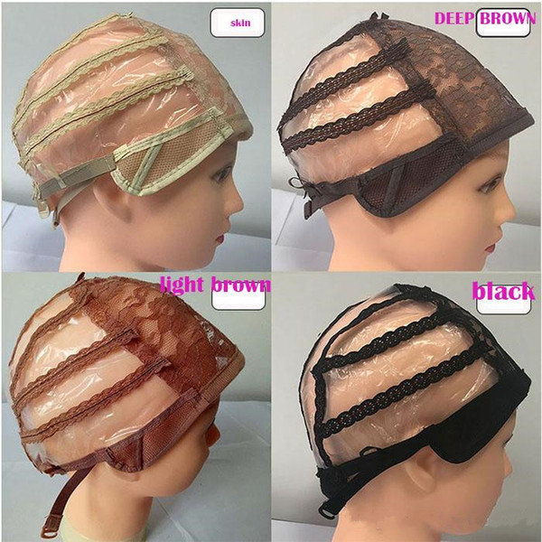 Full Front Lace Wig Caps For Making Wig Adjustable Straps Medium Size CAP Net In Extensions