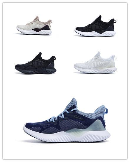 (BOX)2018 New Sale AlphaBounce Beyond High marbles shark outside Running Shoes Black Grey White Alpha Khaki bounce jogging shoes Eur 36-45