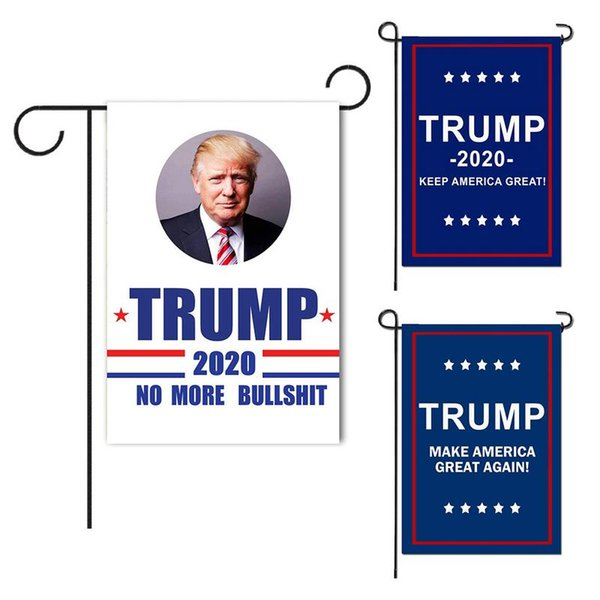 Trump Garden Flags 30* 45CM President General Election Banner 2020 Trump Flag Polyester Cloth Pennant Banner Flags TTA766