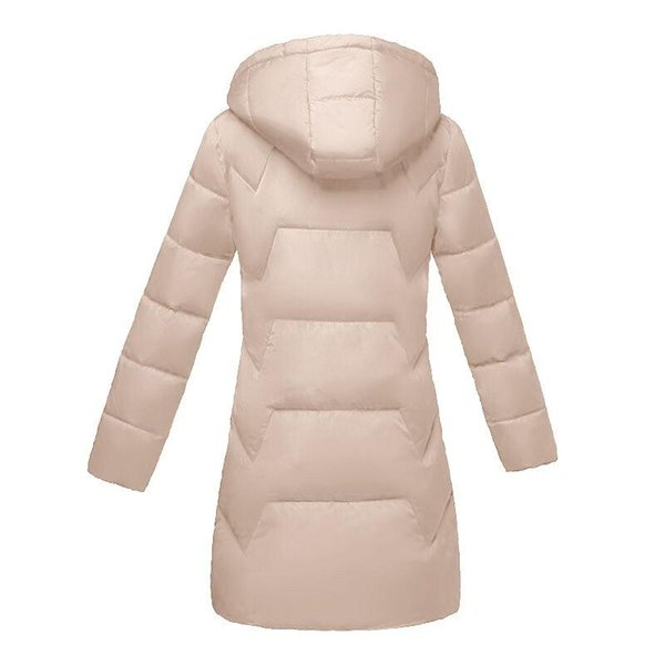 Chaqueta del invierno del otoño de las mujeres 2019 nuevo de la manera de color caqui de invierno con capucha de las mujeres por la chaqueta espesan la capa caliente Mujer Parkas