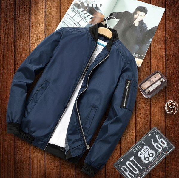 Mens Brand Jackets 2019 New Arrival Solid Color Jackets Mens Overcoat Spring Autumn Casual Coat Men Designer Outerwear Plus Asian Size M-5XL