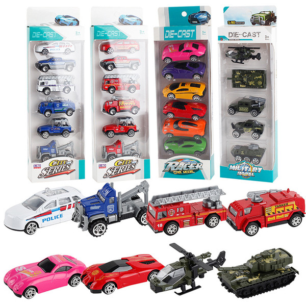 Cars Model Truck Toys Metal Shell Simulation Hammer Model Racing Children's Toy Gift Collection 6pcs/box Packaging Free Ship Via DHL