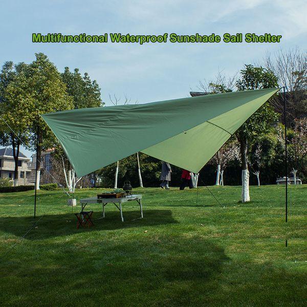 Водонепроницаемый прямоугольник навес Парус укрытие патио тени ткань УФ / дождь устойчивостью палатка гамак брезент пикник Солнце укрытие