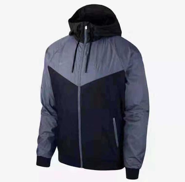 Hommes Vestes 2019 Printemps Vêtements Vente Chaude Colorblock Veste Casual Zipper Windbreaker Club De Football De Football À Capuche
