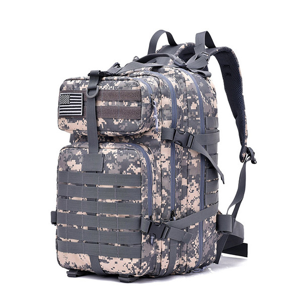 FK9252 40L 900D Military Outdoor Tactical Backpack with Hook-and-loop Fastener ACU Digital