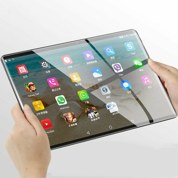 Hot 10.1 pollici Android 7.0 Tablet PC 4GB + 64GB Octa Core WIFI GPS Telefono WiFi C5