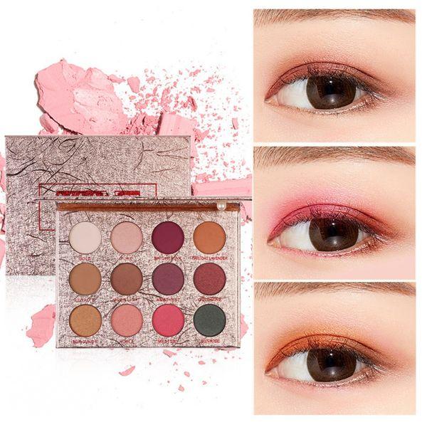 12 Color New Shimmer Eye Shadow Palette Warm Orange Polarized Mermaid Jigan Rose Earth Color Eyeshadow Easy To Wear