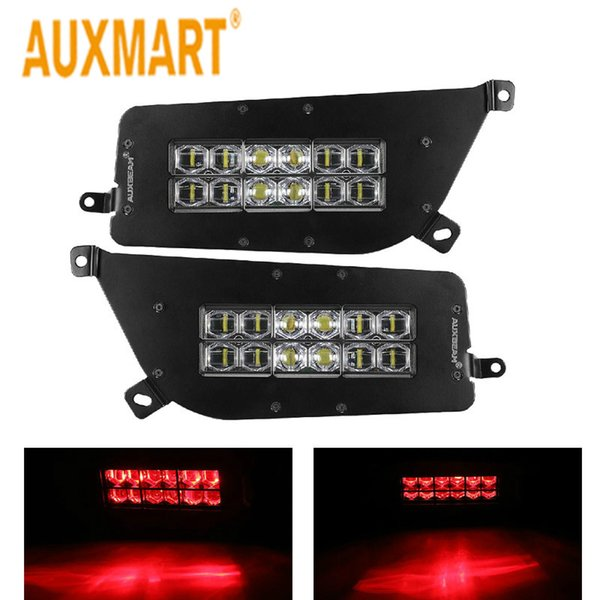 wholesale Headlights LED Kit Multicolor Halo Angle Eyes ATV Red 6000k DC 9-36V IP67 waterproof dustproof for Polaris RZR