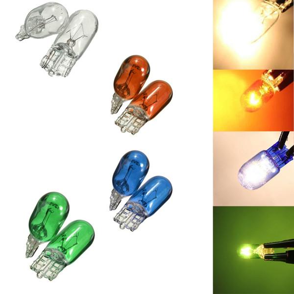10 stücke T10 Auto Halogenlampe 194 501 W5W 5 Watt Signal Innenbeleuchtung Lampe Warmweiß Lichtquelle LED Lampe Helle # 280440