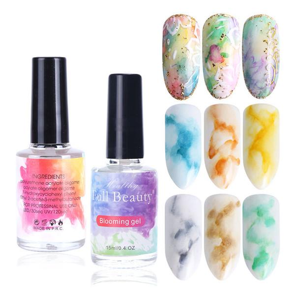 Full Beauty Blooming Gel Varnish Лак для ногтей Halo Dye Ink Гель для ногтей Украшения для маникюра Маникюр Soak Off Smoke Smudge Varnish