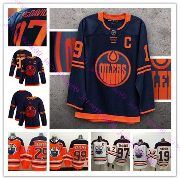 best selling Edmonton Oilers 2019-2020 Third Jersey 97 Connor McDavid 29 Leon Draisaitl 99 Wayne Gretzky 93 Ryan Nugent-Hopkins Hockey Jersey