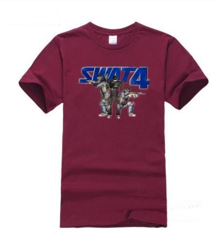 Verão Cotton homens engraçados camisetas mangas curtas tshirt mens Imprimir Moda EUA SWAT homem camisetas cobre T ocasional tshirt