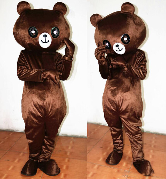 Professional custom dark Brown Bear Mascot Costume Cartoon Happy teddy bear Character Clothes Christmas Halloween Party Fancy Dress