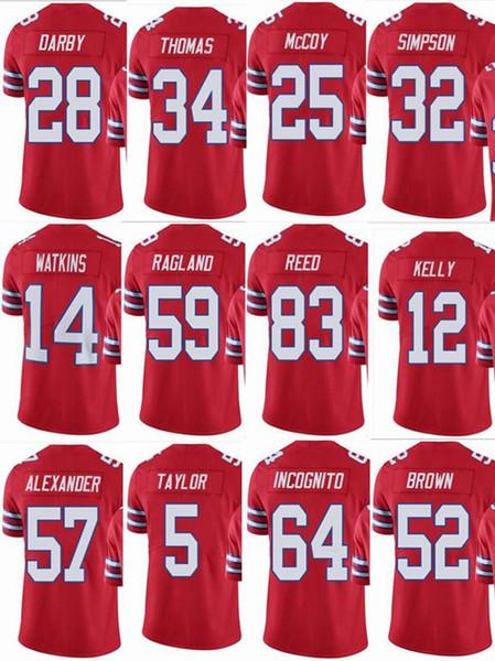 BILL Buffalo  25 LeSean McCoy  12 Jim Kelly  5 Tyrod Taylor  34 Thurman  Thomas  83 Reed Men Women Youth Color Rush Elite Football Jerseys dba1cd2ec