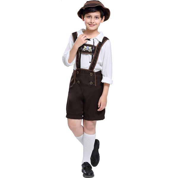Tedesco prestazioni ragazzo Oktoberfest costume vestiti ragazzo bavarese Halloween alpini vestiti abbigliamento montagna di prestazione della fase