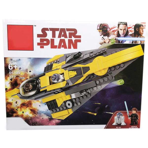 Star Space Wars Anakin Jedi Starfighter Building Blocks Brinquedos para Crianças Presentes Compatível com legoings