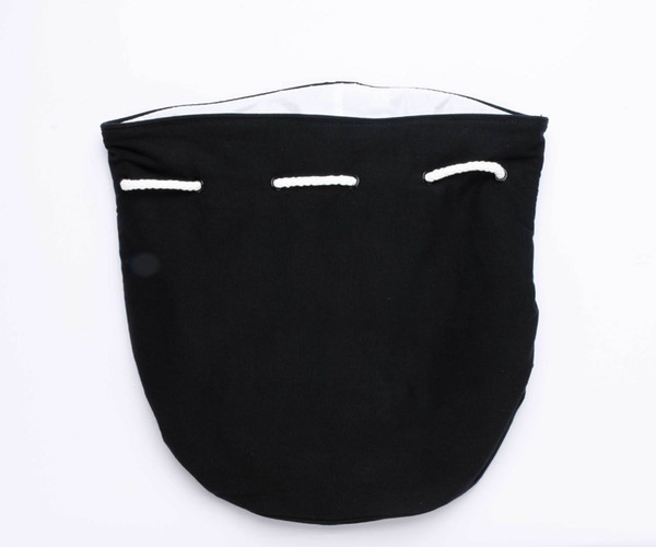 17*30cm Classic logo Drawstring Gym Bucket Bag Thick Travel Draw String Bag Women Waterproof Wash Bag Cosmetic Makeup Storage Case
