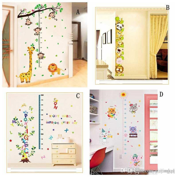 Hot Kids Forest Monkey grow up height wall stickers 3D wallpapers wall decals removeable novelty kids room wallpaper