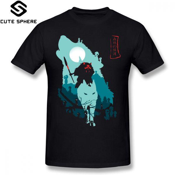 Princesa Mononoke T Shirt Princesa Mononoke T-Shirt Moda Divertida Camiseta 100 Algodão Impressão Mens 6xl Manga Curta Tshirt