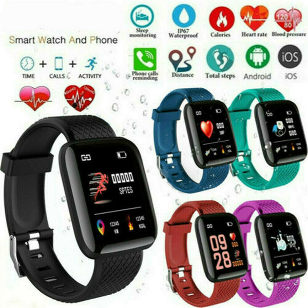best selling D13 D18 D20 Y68 115Plus 116Plus 119Plus Smart Watches 116 115 Plus Heart Rate Watch Smart Wristband Sports Watches Blood Pressure Band
