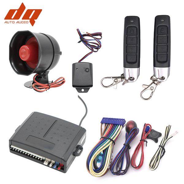Сигнализация Универсальный 1-полосная автомобилей автомобиля Система защиты Защита системы безопасности Keyless Entry Siren + 2 Пульт дистанционного управления охранной