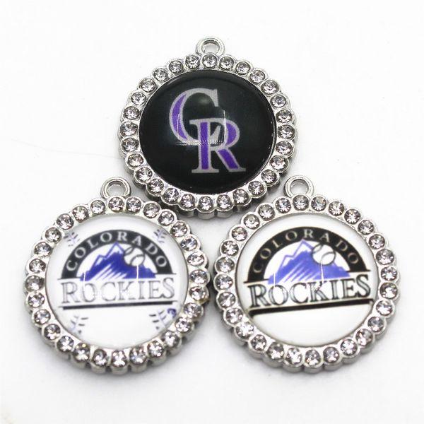 US Baseball Rockies Team 10pcs/lot Sports Dangle Charms Baseball Sports Charms DIY Bracelet Necklace Pendant Jewelry Hanging Charms