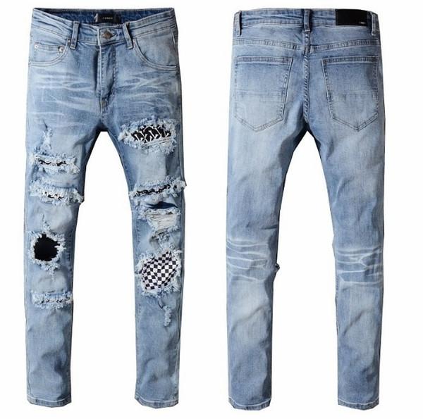 Yeni 2018 Justin Bieber pantolon İnce Streetwear Markalar pantolon chris brown Tyga pantolon kaykay moda sıska Fermuar Jean Pnats