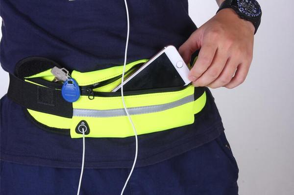 best selling Waterproof Sport Runner Waist Bum Bag Running Jogging Belt Pouch Zip Fanny Pack Fitness Packs