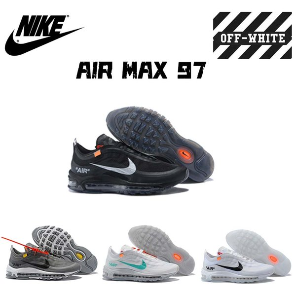 official photos 2ce1e 45f51 OFF W WHITE X Nike Air 97 Max Transparent OW THE TEN MEN/WOMEN SNEAKERS  SPORTS RUNNING SHOES Shoes For Sale Cheap Shoes Online From Heaor, $50.77|  ...
