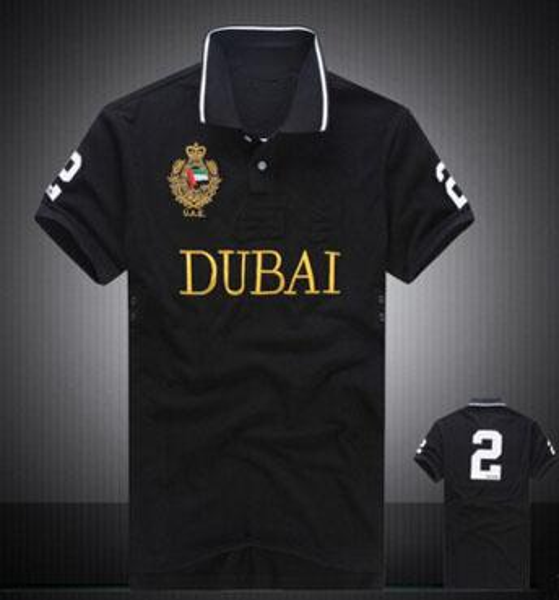 41de34a84 Luxury Summer Men Polo Shirts Big Pony Print City Milan London Miami Dubai  Paris New York Polos Cotton Polo Shirt Size S-XXL