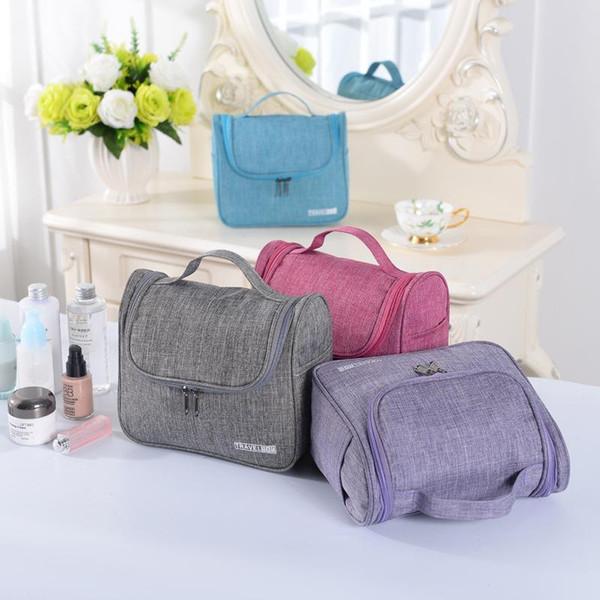 Многофункциональный висит туалетные сумка для хранения макияж организатор большой емкости водонепроницаемый косметический хранения складные сумки DH01018