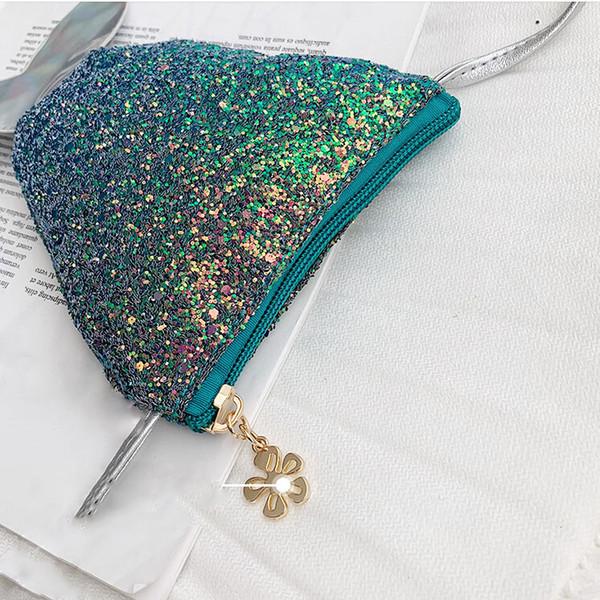 2019 Nueva Marca Niños Lentejuelas Mini Messenger Bag Lindo Mermaid Tail Party Bag Girls Lovely PU Hombro Crossbody Bolsas 5 Color