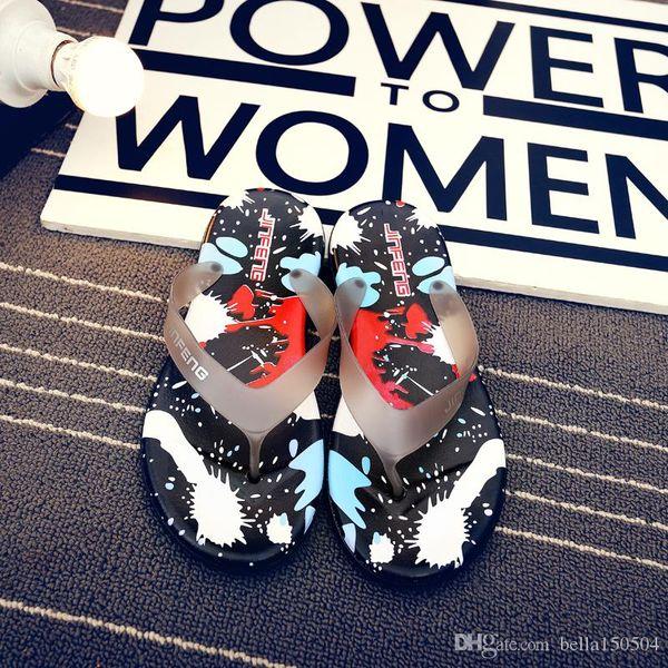 вьетнамки пляжные тапочки Гавайи летние мужчины вьетнамки пляжные тапочки обувь Риф сандалии красочные нескользящей Ева массаж тапочки лучшее качество