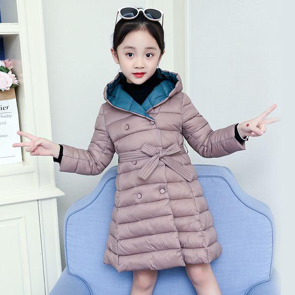 OLEKID 2019 Autumn Winter Girls Parka Hooded Korean Kids clothes 4-11 Years Long Jacket For Girls Baby Warm Outerwear Coat