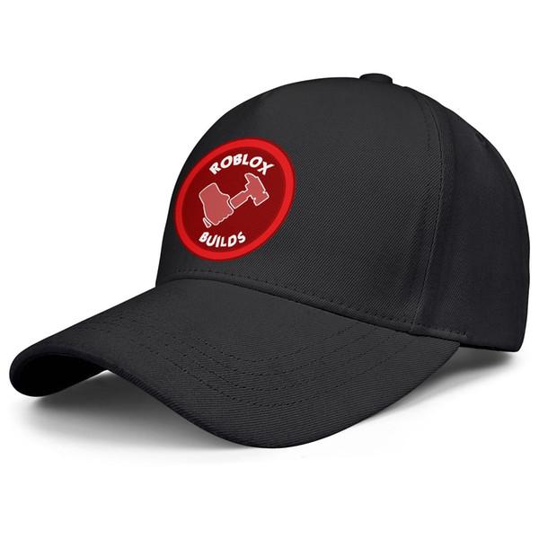 Roblox construit le logo noir des femmes des hommes snapback chapeau des casquettes de baseball réglables personnalisé mignon chapeau brodé