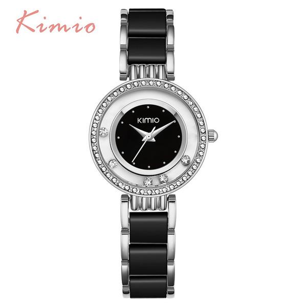 бриллиантовый парик KIMIO Pearl Scale Кристалл Бриллиантовый Роллинг Браслет женские Часы Марка Luxury Fashion Женские Часы Женщины Кварцевые часы Часы