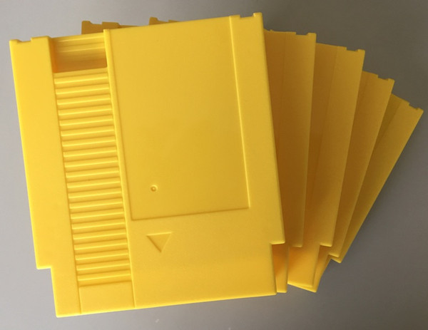 Yellow color 72 Pins Game Cartridge Replacement Plastic Shell For NES Console